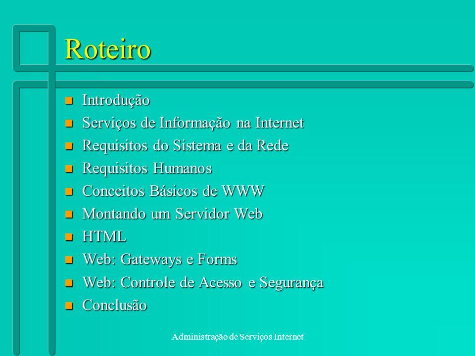 Administração de Serviços Internet