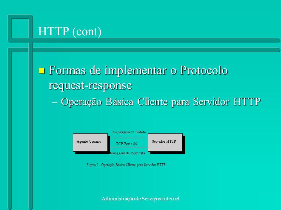 Formas de implementar o Protocolo request-response