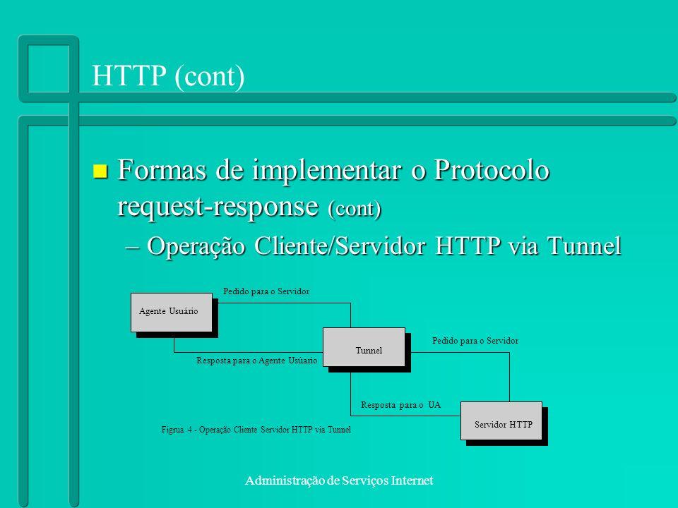 Formas de implementar o Protocolo request-response (cont)
