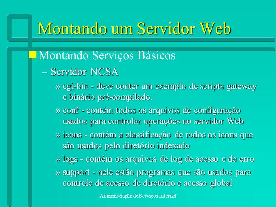 Montando um Servidor Web