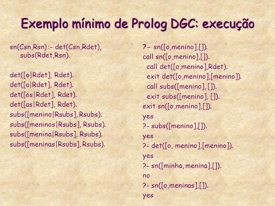 Exemplo mínimo de Prolog DGC: execução