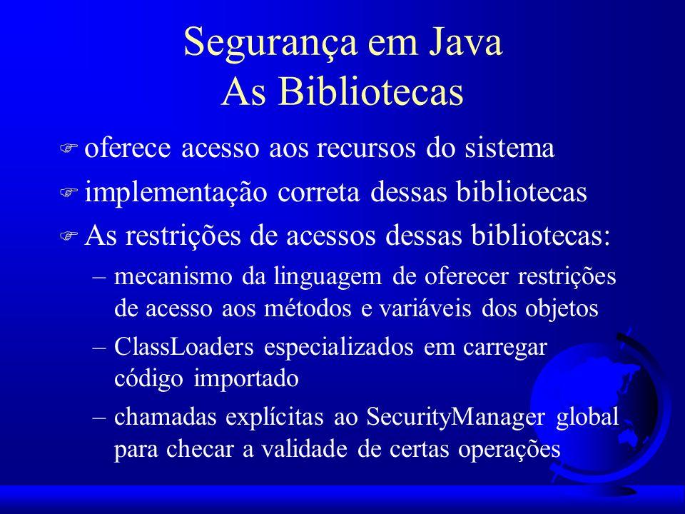 Segurança em Java As Bibliotecas