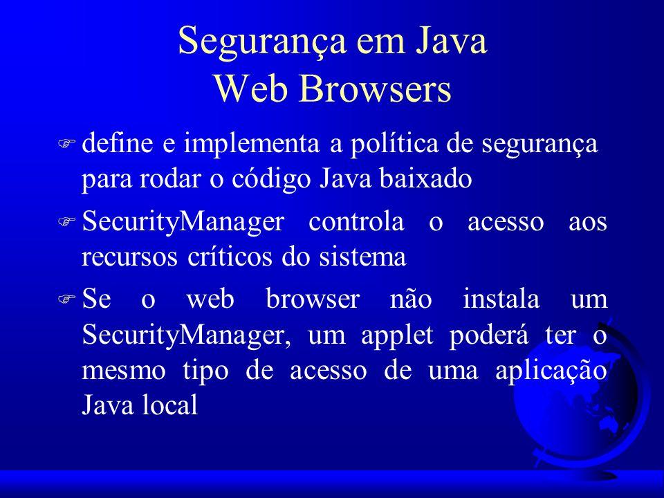 Segurança em Java Web Browsers