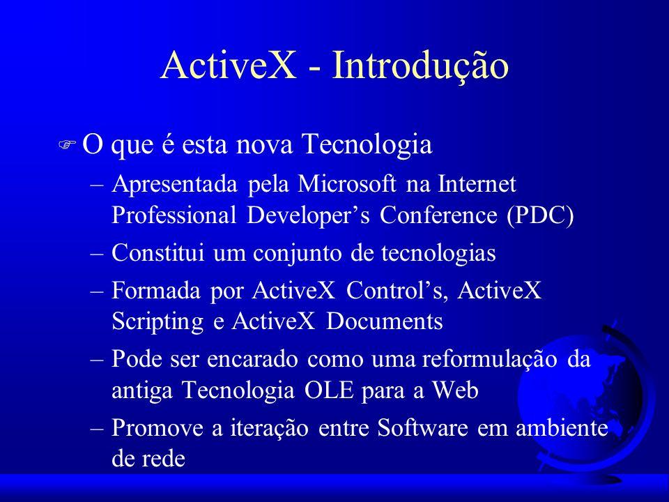 ActiveX - Introdução O que é esta nova Tecnologia