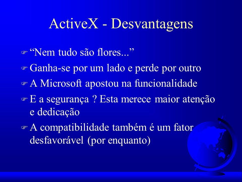 ActiveX - Desvantagens