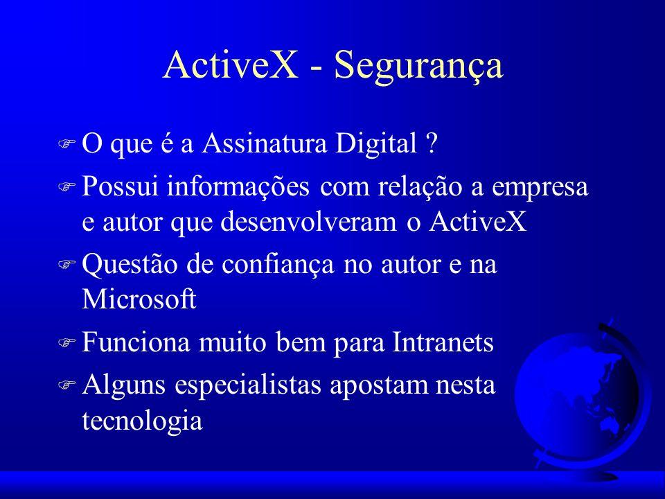 ActiveX - Segurança O que é a Assinatura Digital