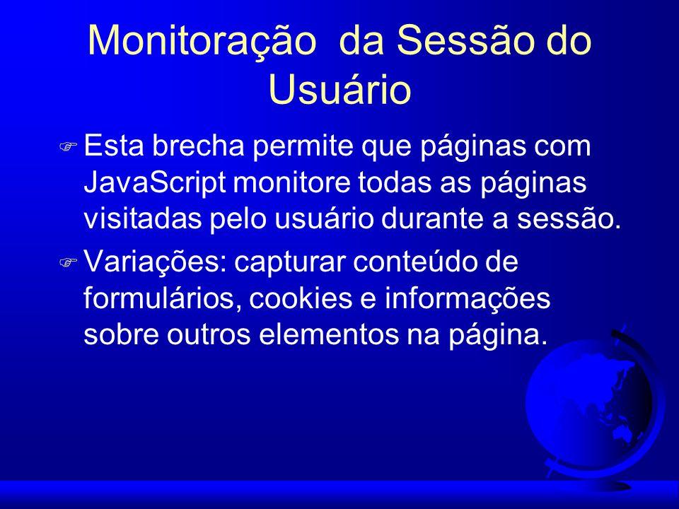 Monitoração da Sessão do Usuário