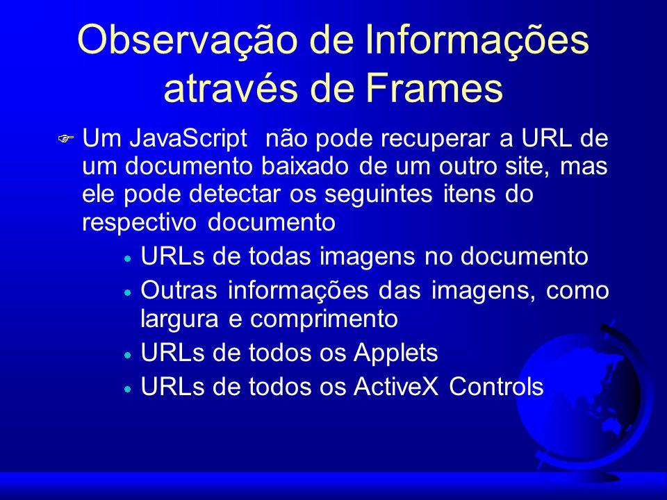 Observação de Informações através de Frames