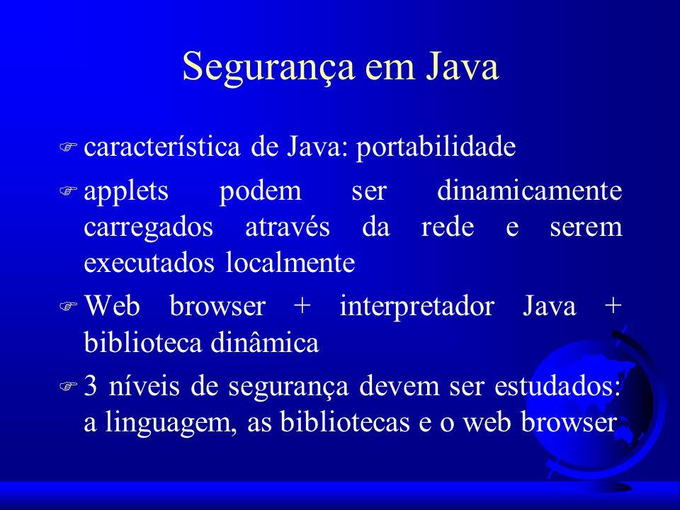 Segurança em Java característica de Java: portabilidade