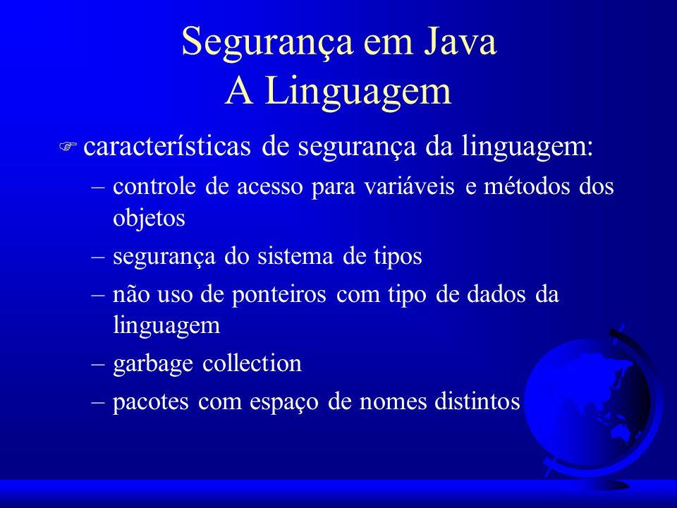 Segurança em Java A Linguagem