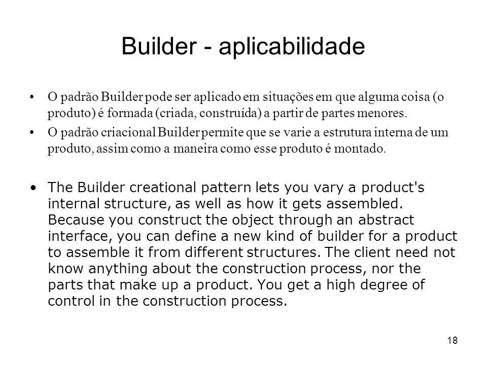 Builder - aplicabilidade