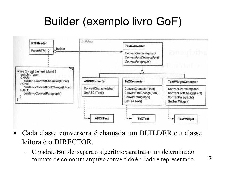 Builder (exemplo livro GoF)