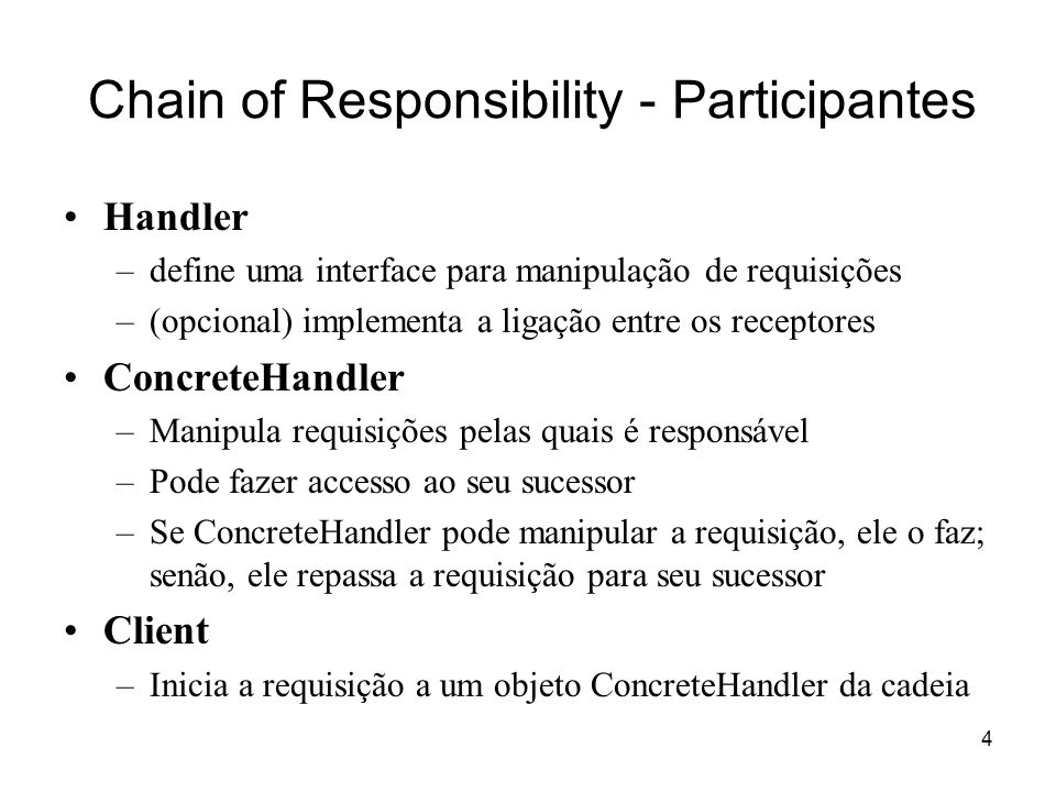 Chain of Responsibility - Participantes