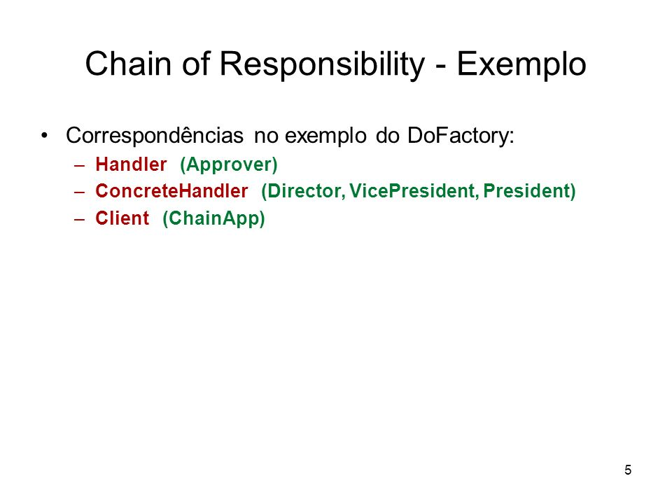 Chain of Responsibility - Exemplo