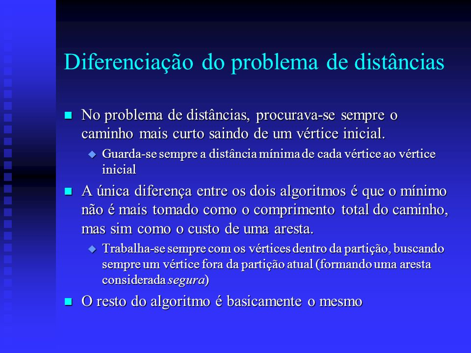 Diferenciação do problema de distâncias