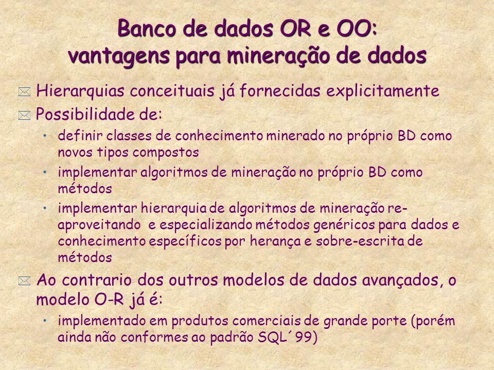 Banco de dados OR e OO: vantagens para mineração de dados