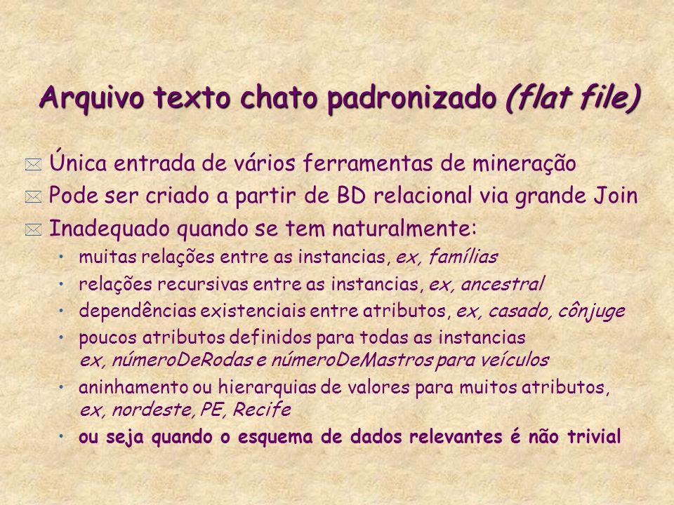 Arquivo texto chato padronizado (flat file)
