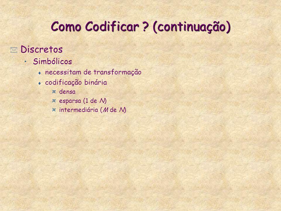 Como Codificar (continuação)