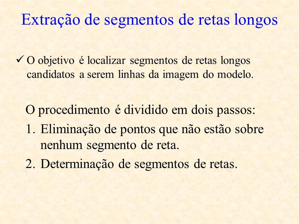 Extração de segmentos de retas longos