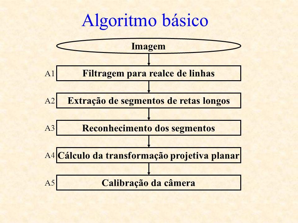 Algoritmo básico Imagem Filtragem para realce de linhas