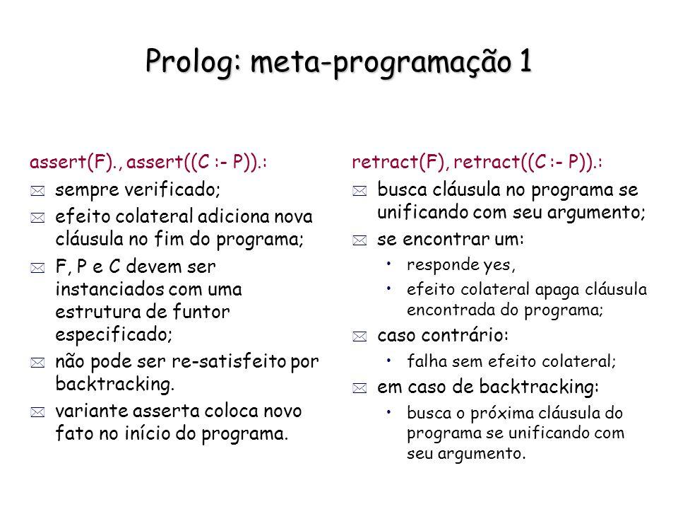 Prolog: meta-programação 1