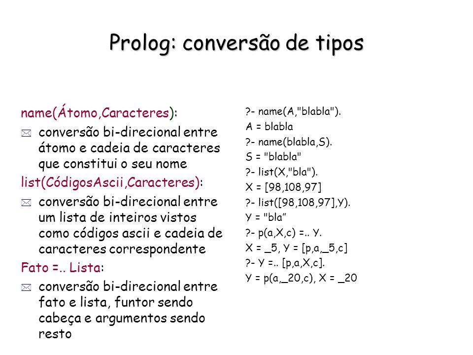Prolog: conversão de tipos