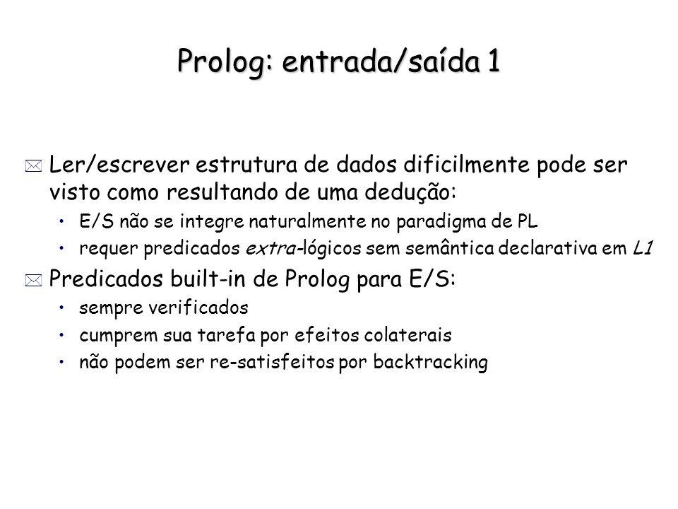 Prolog: entrada/saída 1