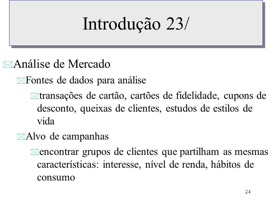Introdução 23/ Análise de Mercado Fontes de dados para análise
