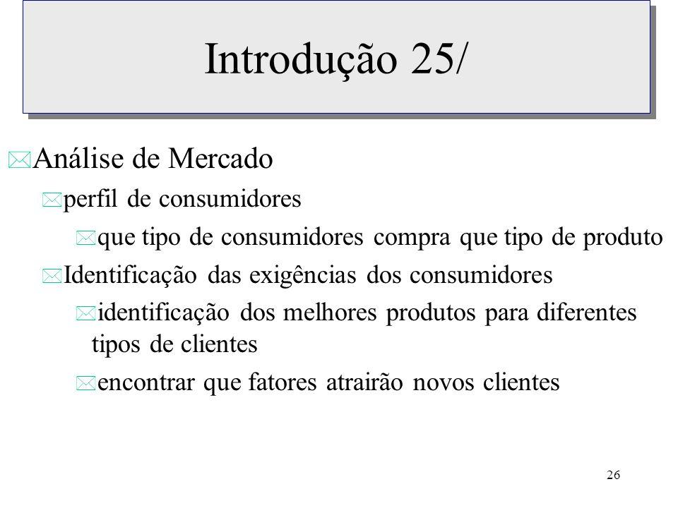 Introdução 25/ Análise de Mercado perfil de consumidores