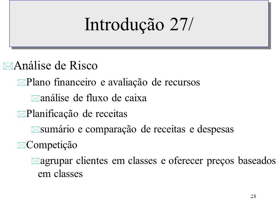 Introdução 27/ Análise de Risco