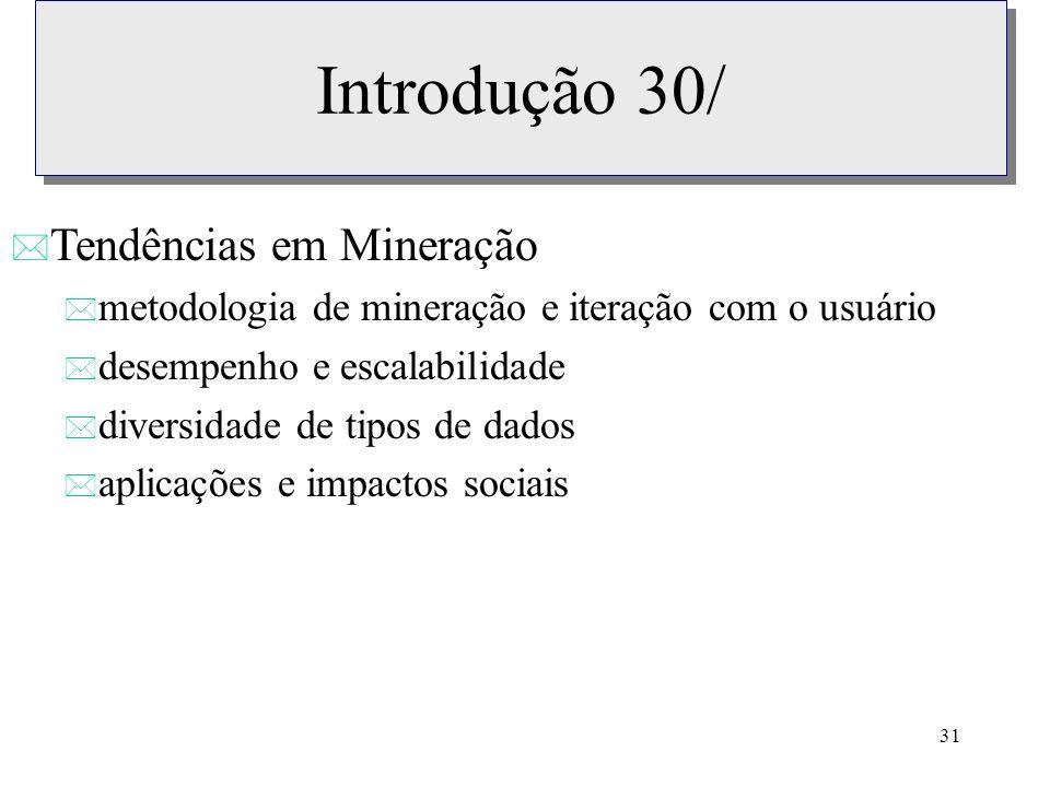 Introdução 30/ Tendências em Mineração