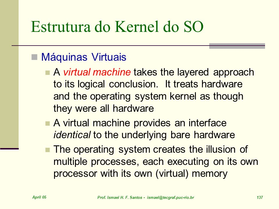 Estrutura do Kernel do SO