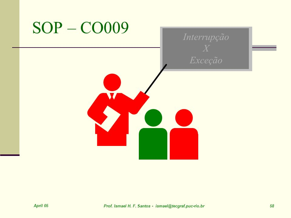 SOP – CO009 Interrupção X Exceção April 05