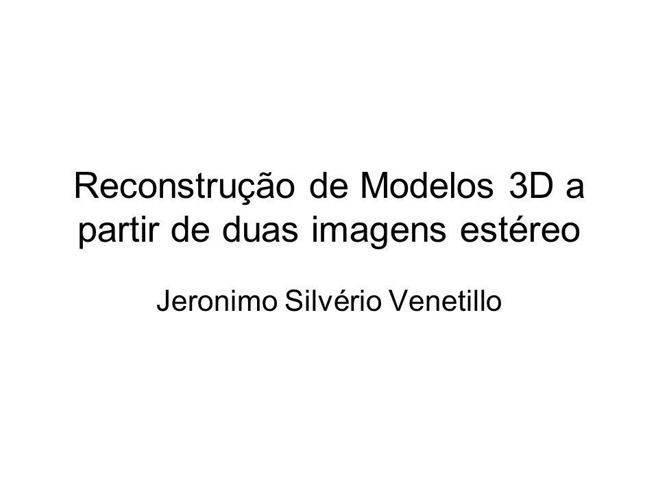 Reconstrução de Modelos 3D a partir de duas imagens estéreo