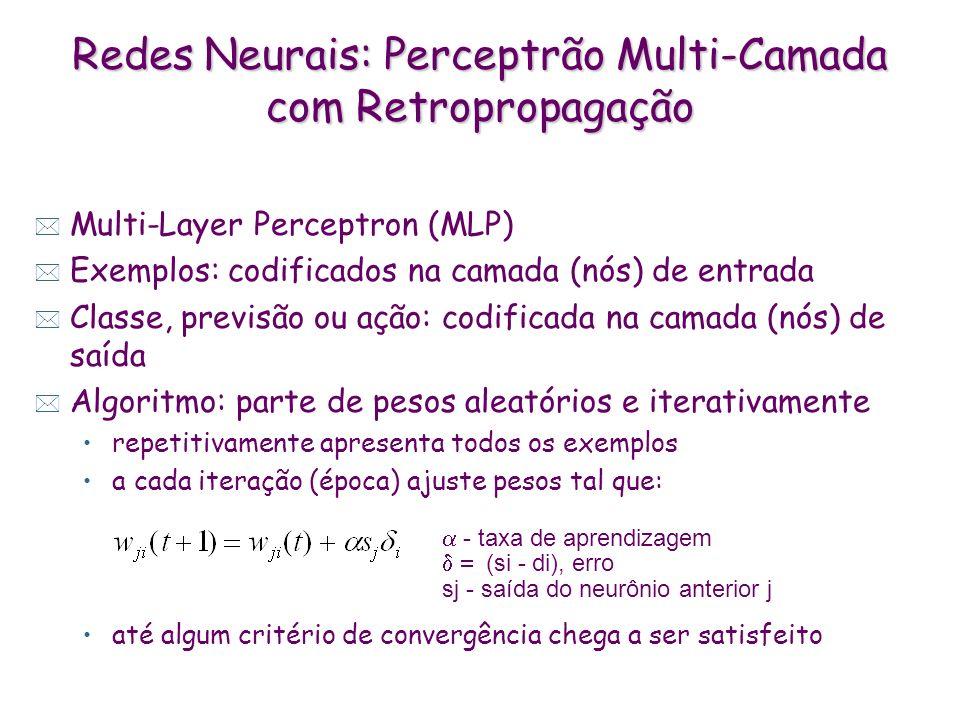 Redes Neurais: Perceptrão Multi-Camada com Retropropagação