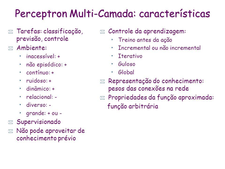 Perceptron Multi-Camada: características