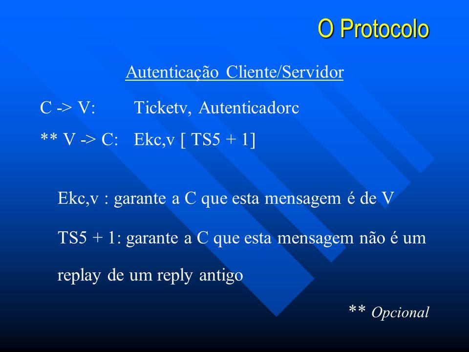 Autenticação Cliente/Servidor