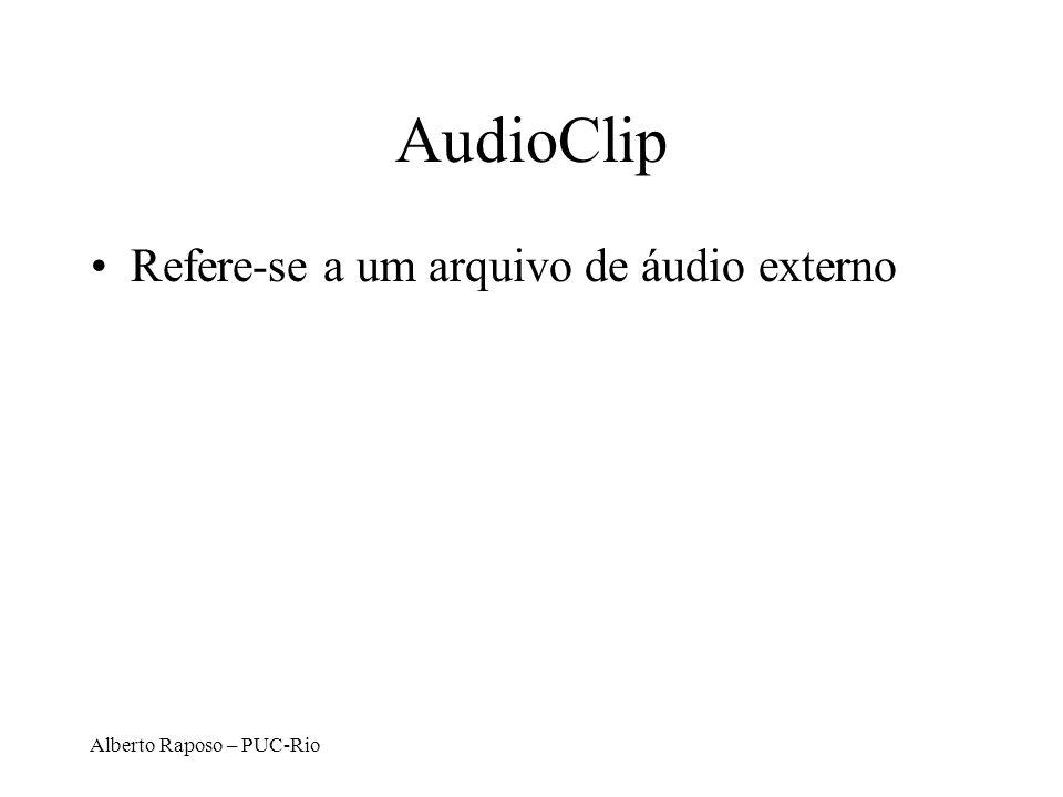 AudioClip Refere-se a um arquivo de áudio externo