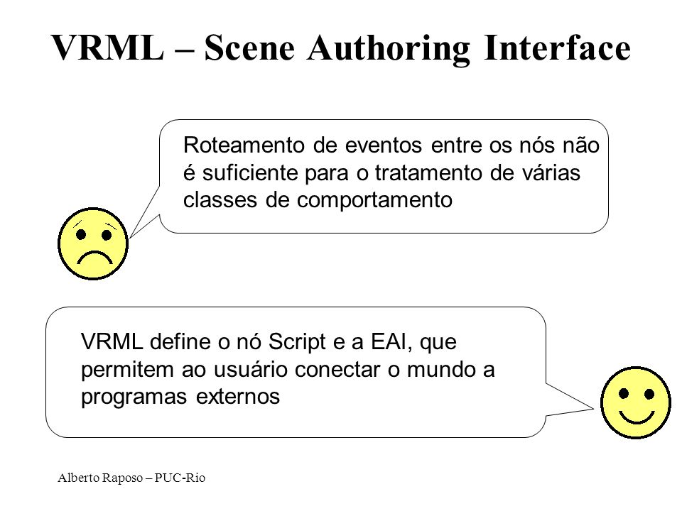 VRML – Scene Authoring Interface