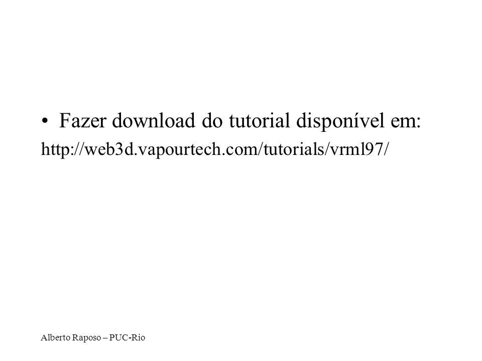 Fazer download do tutorial disponível em: