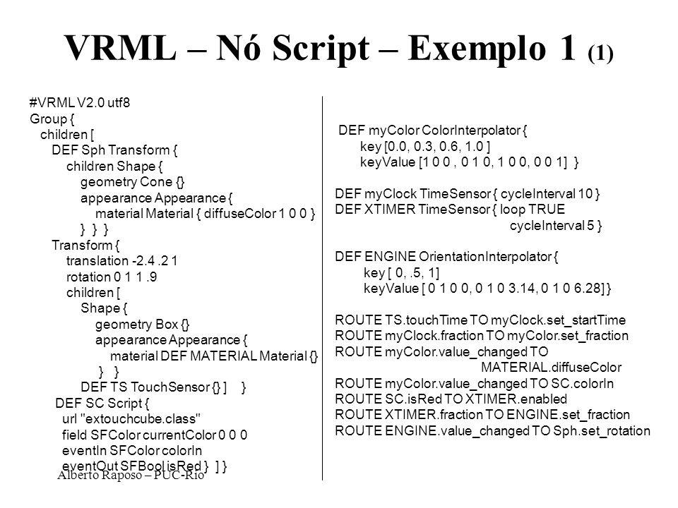 VRML – Nó Script – Exemplo 1 (1)