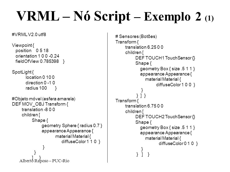 VRML – Nó Script – Exemplo 2 (1)