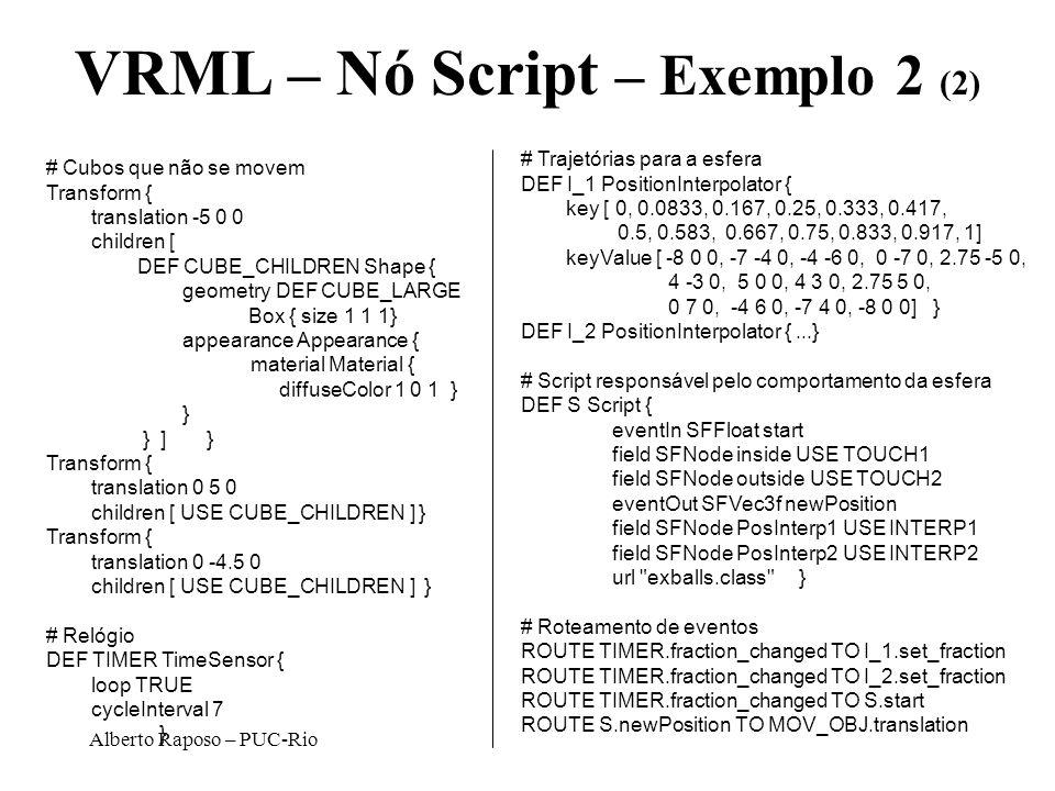 VRML – Nó Script – Exemplo 2 (2)