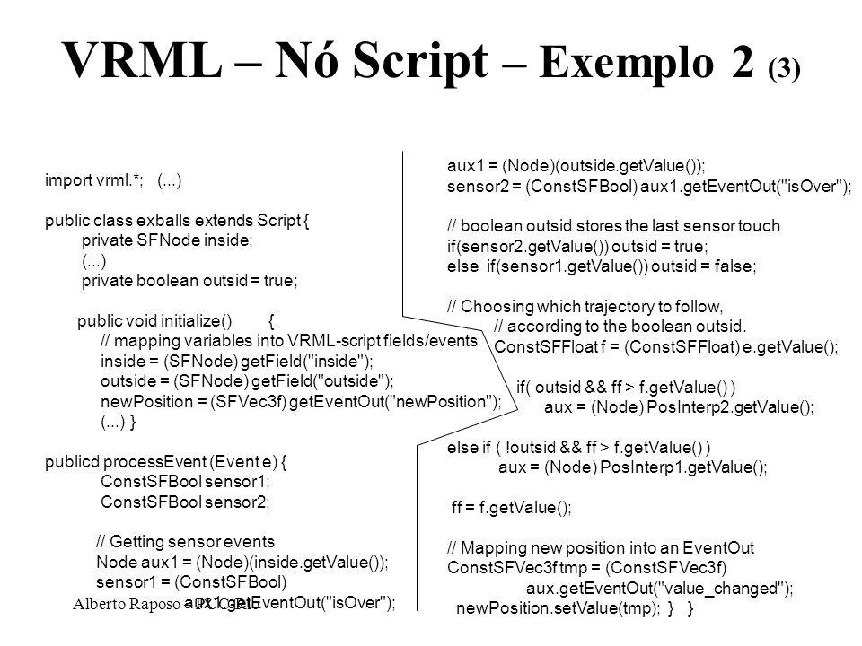 VRML – Nó Script – Exemplo 2 (3)