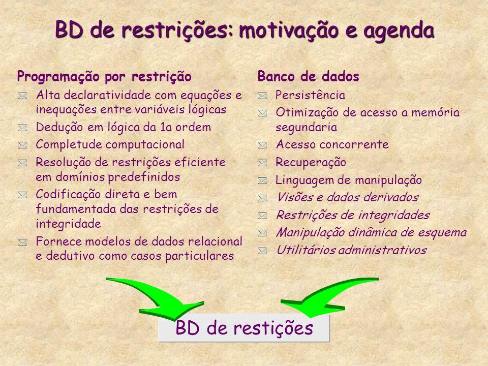 BD de restrições: motivação e agenda