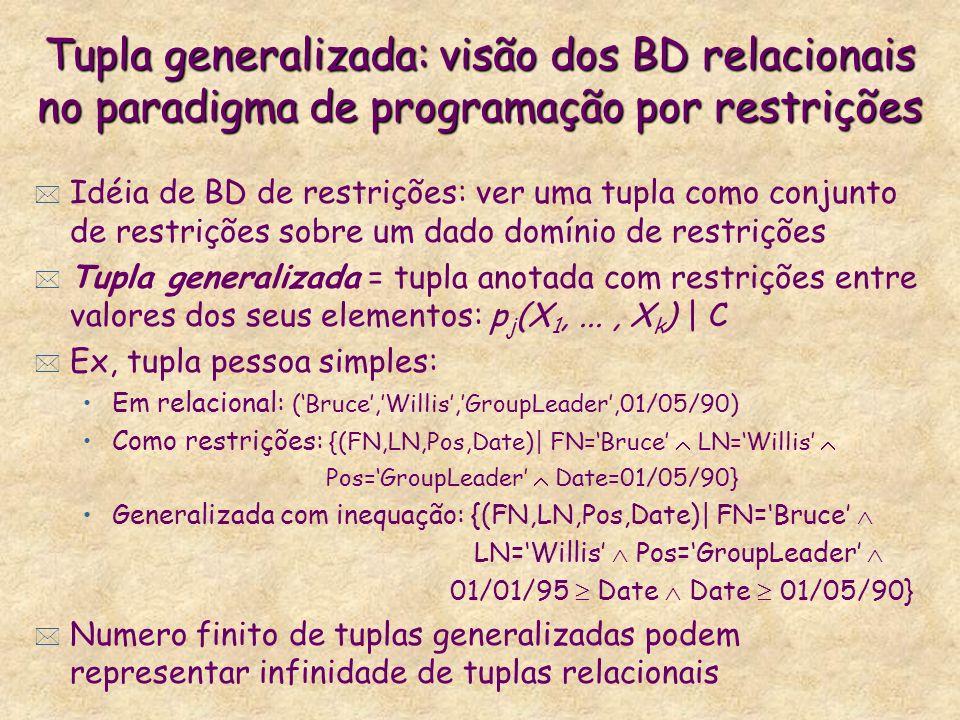 Tupla generalizada: visão dos BD relacionais no paradigma de programação por restrições