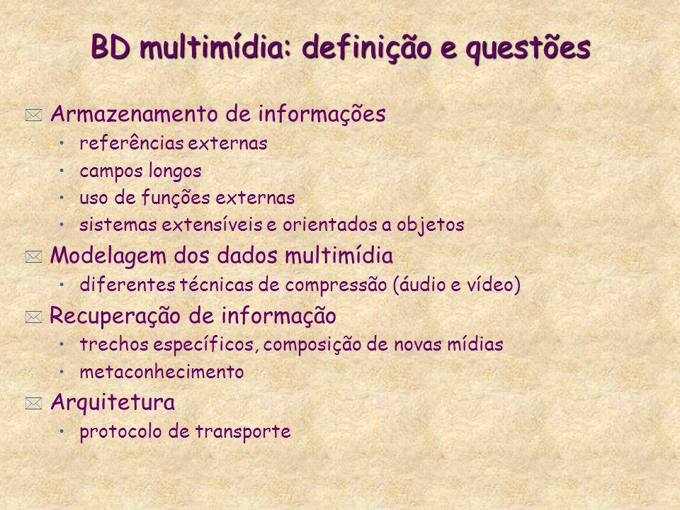 BD multimídia: definição e questões