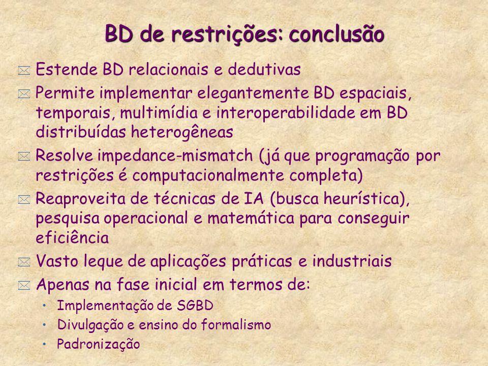 BD de restrições: conclusão