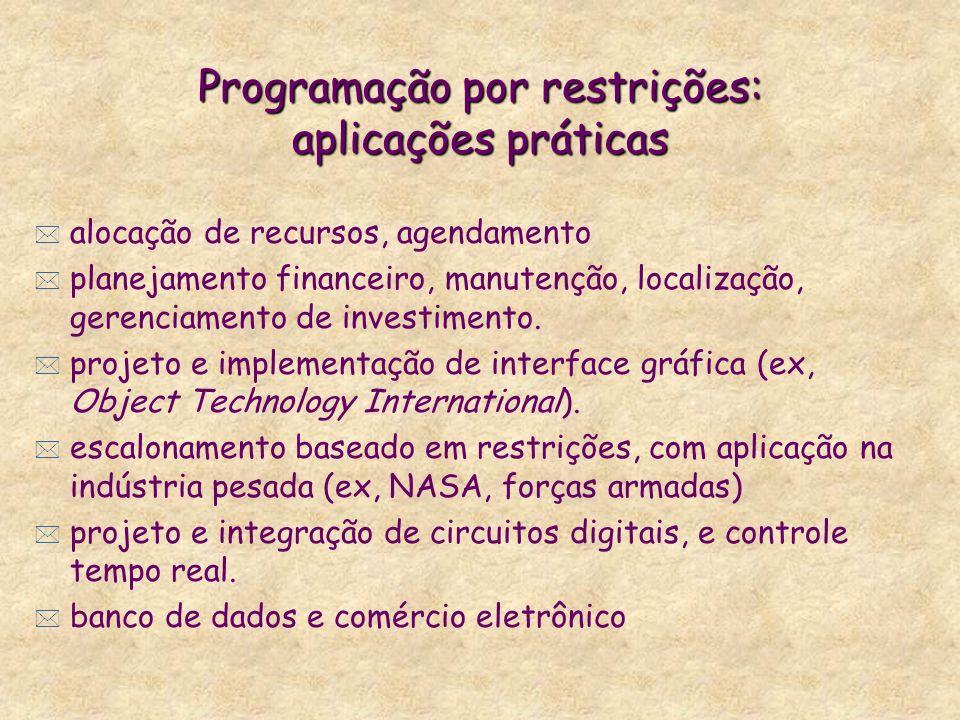 Programação por restrições: aplicações práticas