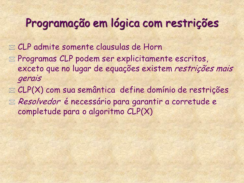 Programação em lógica com restrições